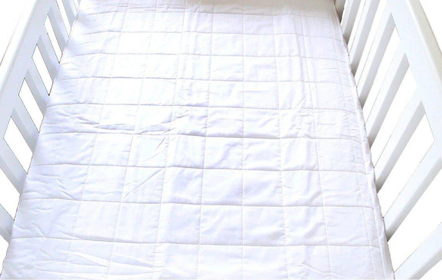 Brolly Sheets Mattress Protector - Cot Quilted Fitted White mattress protector - Nest 2 Me Baby Carriers Australia