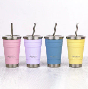 Montii Co Mini Lavender Montii Co Smoothie Cup with Stainless Steel Reusable Straw 275mL smoothie cup - Nest 2 Me Baby Carriers Australia