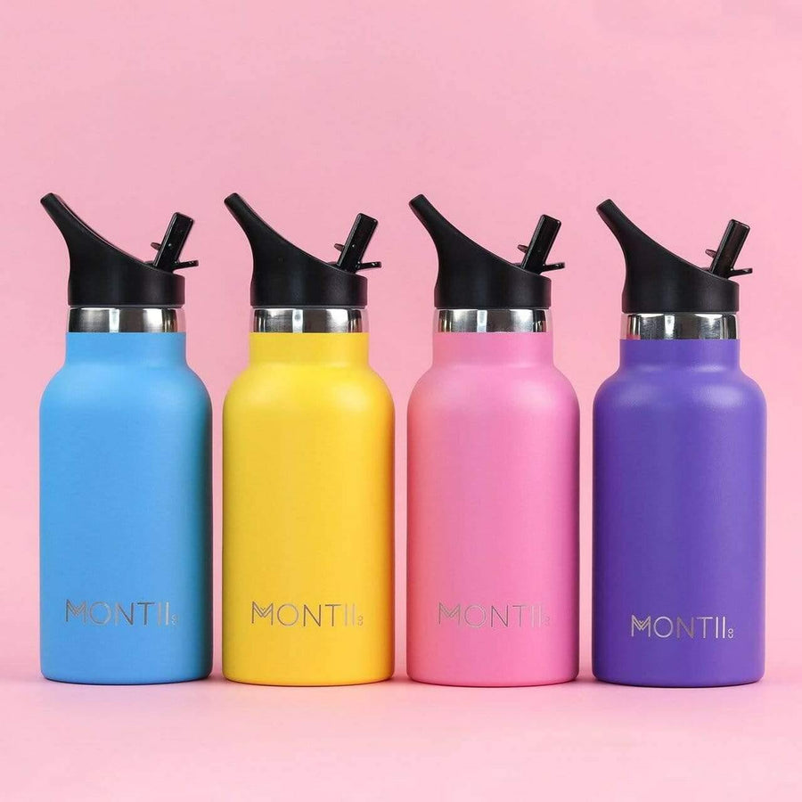Montii Co Montii Co Mini Drink Bottle 350mL  - Yellow drink bottle - Nest 2 Me Baby Carriers Australia