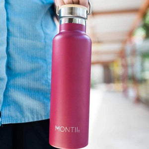 Montii Co Montii Co Stainless Steel Drink Bottle - Burgundy Red 600mL drink bottle - Nest 2 Me Baby Carriers Australia