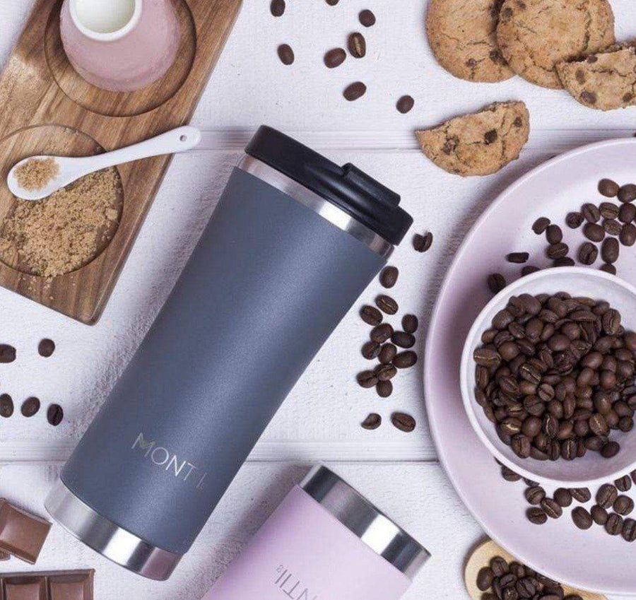 Montii Co Montii Co Stainless Steel Insulated Mega Coffee Cup - Slate Grey 475mL drink bottle - Nest 2 Me Baby Carriers Australia