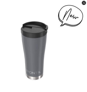 Montii Co Stainless Steel Insulated Mega Coffee Cup - Slate Grey 475mL drink bottle Montii Co