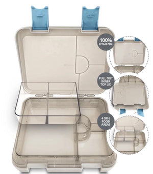 My Family My Family Easy Clean Bento Lunch Box Unicorn 6 Compartment bento lunchbox - Nest 2 Me Baby Carriers Australia