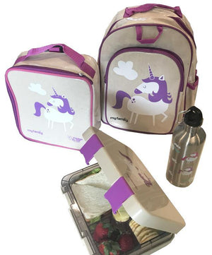 My Family My Family Unicorn Purple Toddler Backpack backpacks - Nest 2 Me Baby Carriers Australia