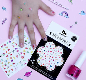 No Nasties Makeup Nail Sticker Sheet Fruity - No Nasties Kids nail stickers - Nest 2 Me Baby Carriers Australia