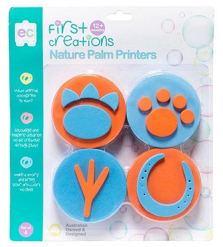 First Creations Nature Palm Printers Set of 4 stamp set - Nest 2 Me Baby Carriers Australia