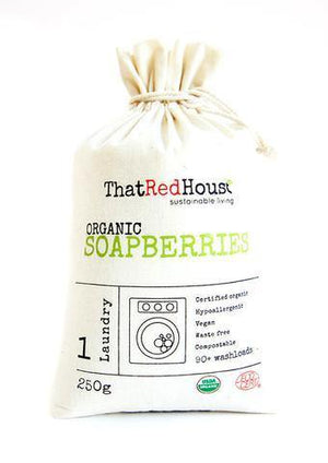 That Red House Organic Soap Berries - 250g bag 90+ washloads diy bottles and jars - Nest 2 Me Baby Carriers Australia