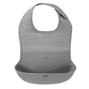 Oxo Tot Oxo Tot Roll up Bib - Grey baby bib - Nest 2 Me Baby Carriers Australia