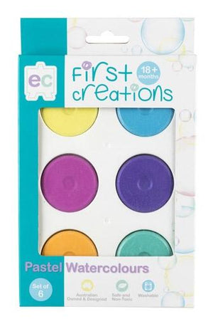 Pastel Watercolour Paint Set of 6 paint First Creations