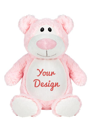Coast Imagewear Personalised Embroidered Large Pink Bear  - Choose your message personalised bear - Nest 2 Me Baby Carriers Australia