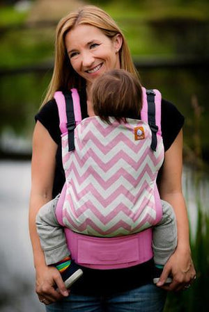 Tula Baby Carriers Australia Nest 2 Me Pink Zig Zag Tula  - Standard Baby Carrier Tula Ergonomic Baby Carriers - Nest 2 Me Baby Carriers Australia
