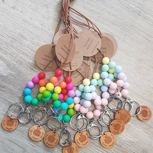 Nature Bubz Rainbow Teach Inspire Grow Teacher Lanyards Necklaces Key Holders - Choose Colour - Nature Bubz lanyards - Nest 2 Me Baby Carriers Australia