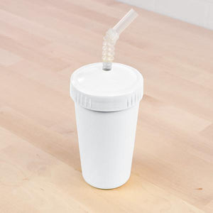 Replay Replay Straw Cup with Reusable Straw - White cups - Nest 2 Me Baby Carriers Australia