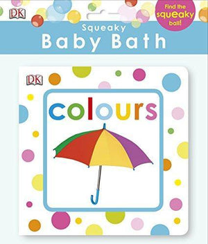 DK books Squeaky Baby Bath Book - Colours bath book - Nest 2 Me Baby Carriers Australia
