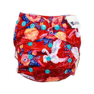 Designer Bums Swan Song Designer Bums Art Pop AI2 Modern Cloth Nappy Nappies - Nest 2 Me Baby Carriers Australia
