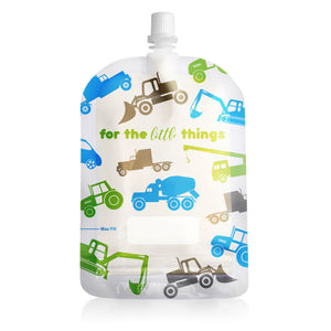 Trucks 150mL Top Spout Sinchies Reusable Food Pouches - 10 pouch box food pouches Sinchies