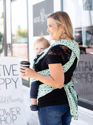 Tula Baby Carriers Australia Nest 2 Me Tula Half Buckle Mint Chip - Carrier for Newborn 3.5kg up to Toddler 20kg No Insert Needed half buckle carrier - Nest 2 Me Baby Carriers Australia