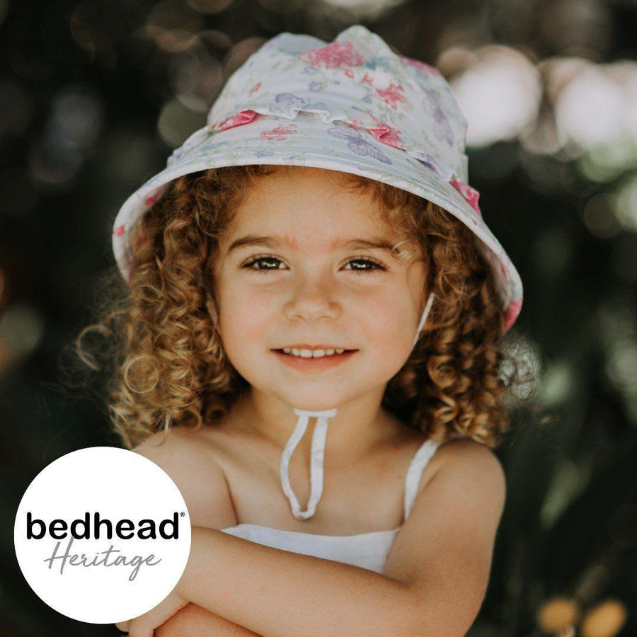 Bedhead Hats Victoria Design Toddler Ruffle Bucket - Bedhead Hats hat - Nest 2 Me Baby Carriers Australia
