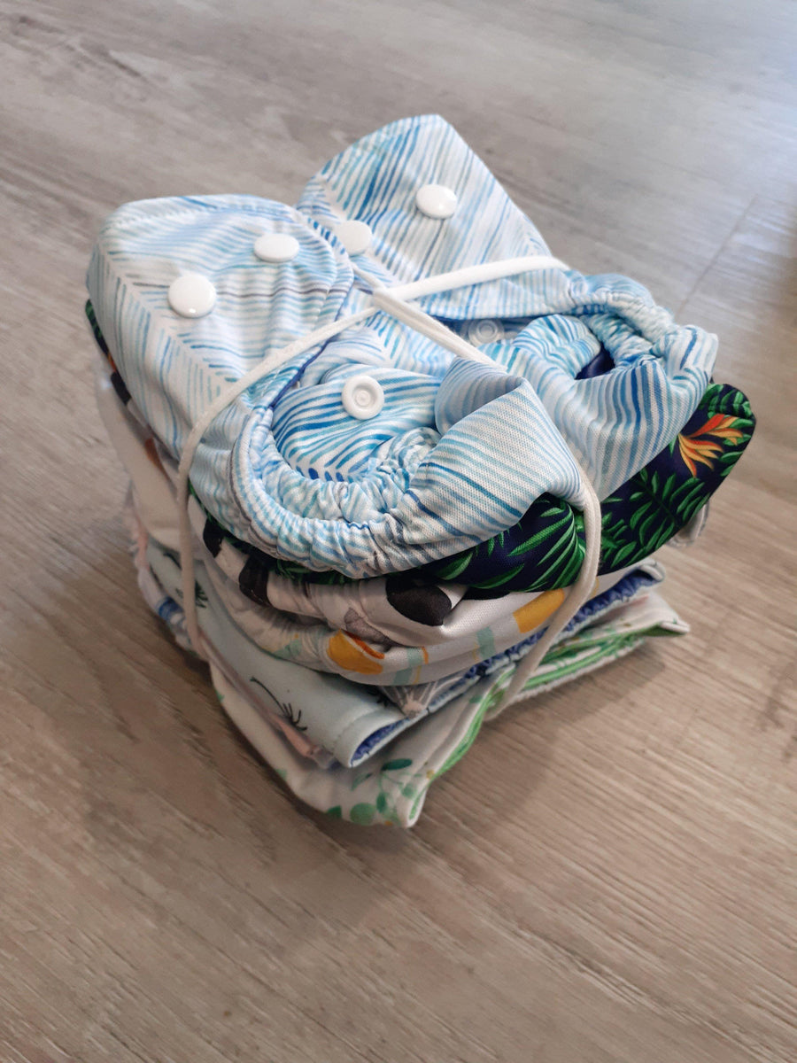 Bare + Boho Wildflower Newborn Bare and Boho Cloth Nappy Single Bamboo Nappies - Nest 2 Me Baby Carriers Australia