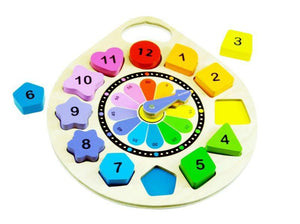 Kiddie Connect Wooden Clock Educational Puzzle wooden toys - Nest 2 Me Baby Carriers Australia