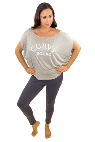CURVY SQUAD OFF SHOULDER TOP (HEATHER GREY)