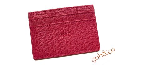 Jordy Ruby Red Card Holder - Small Font