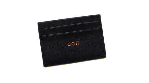 Jordy Black Card Holder - Small Font