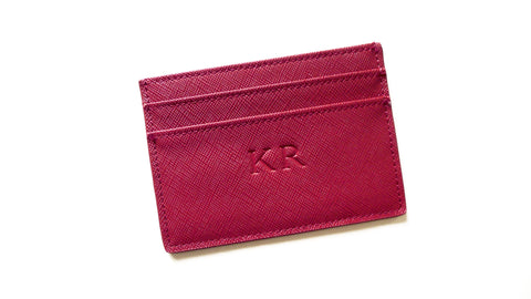Jordy Ruby Red Card Holder - Large Font