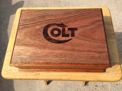 Red African Mahogany Presentation Box - EV Designs