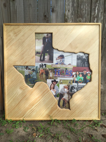 Texas Shaped Photo Collage