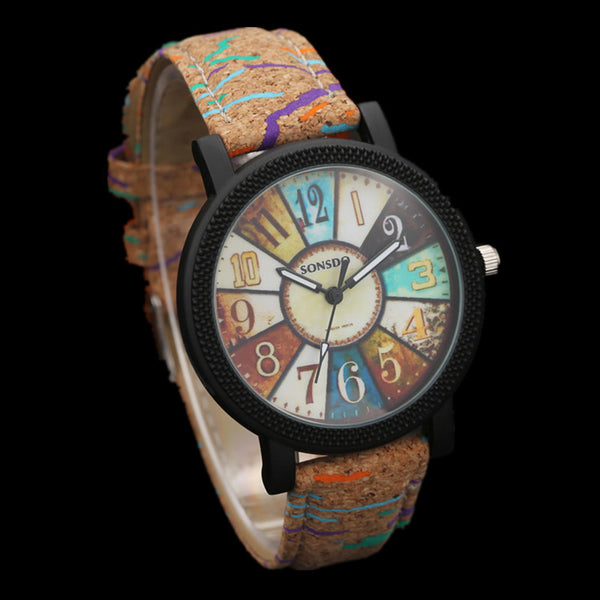 Multi-color Wood Watch For Men & Women.  Multiple color options available.