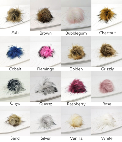 Faux Fur Pom Pom Colors 2019