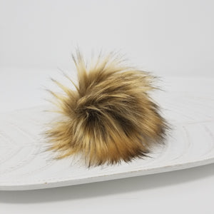 Golden Faux Fur Pom Poms