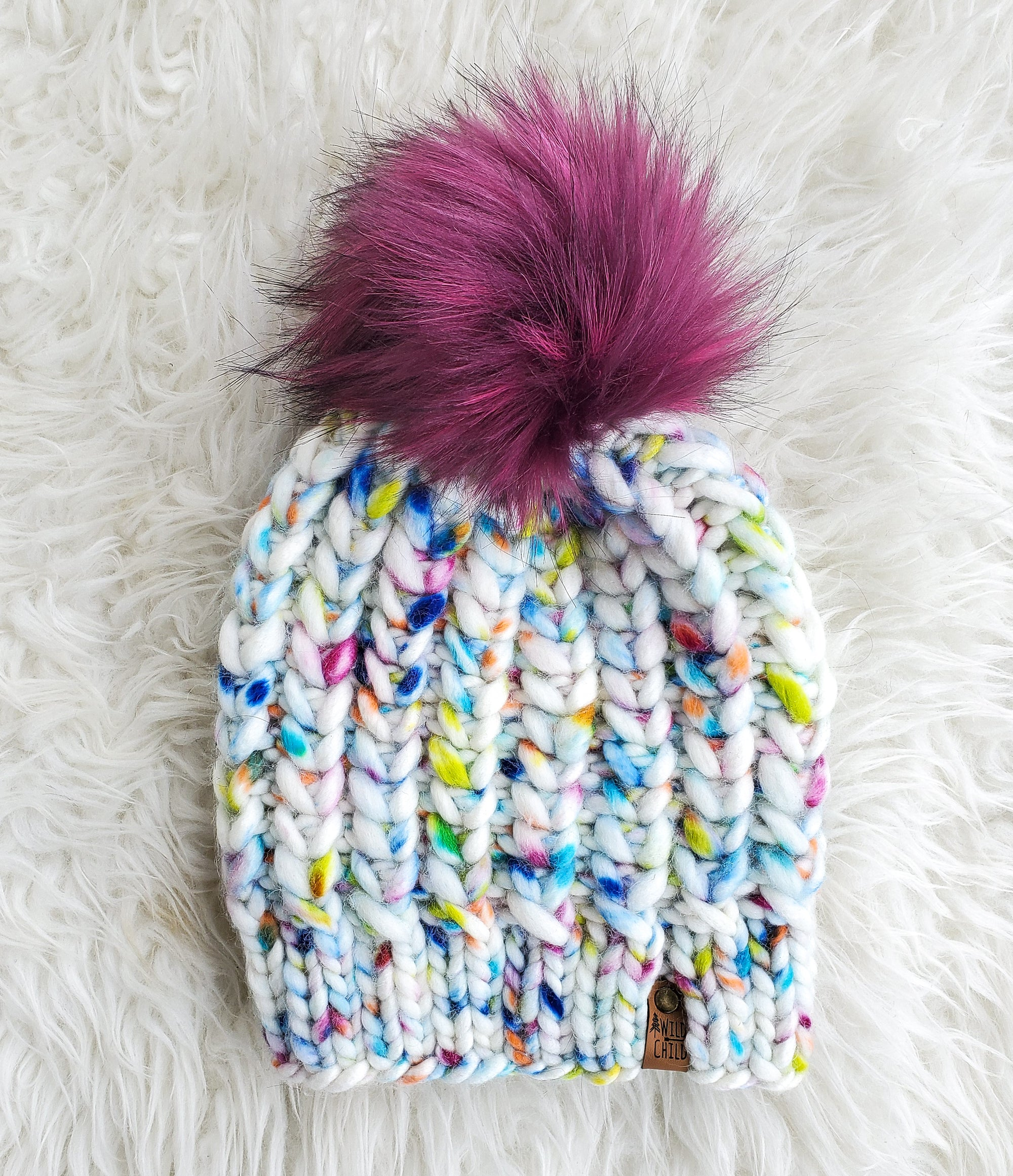 The Braided Hearts Toque (Adult Size)