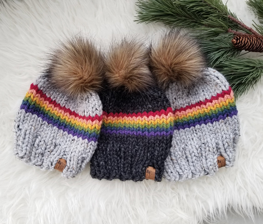 Retro Arc En Ciel Toque - Custom Order