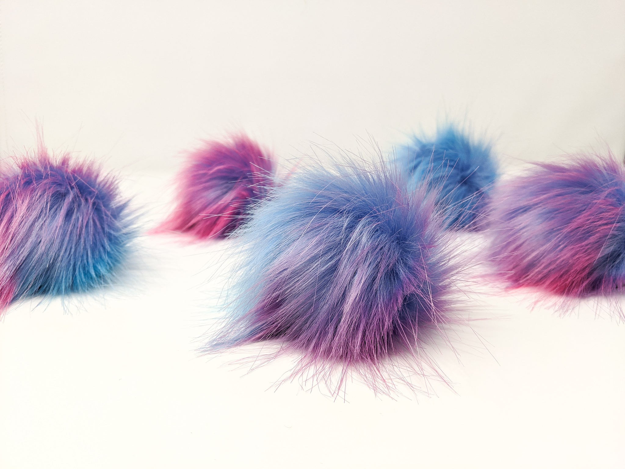 Dreamsicle Faux Fur Pom Poms