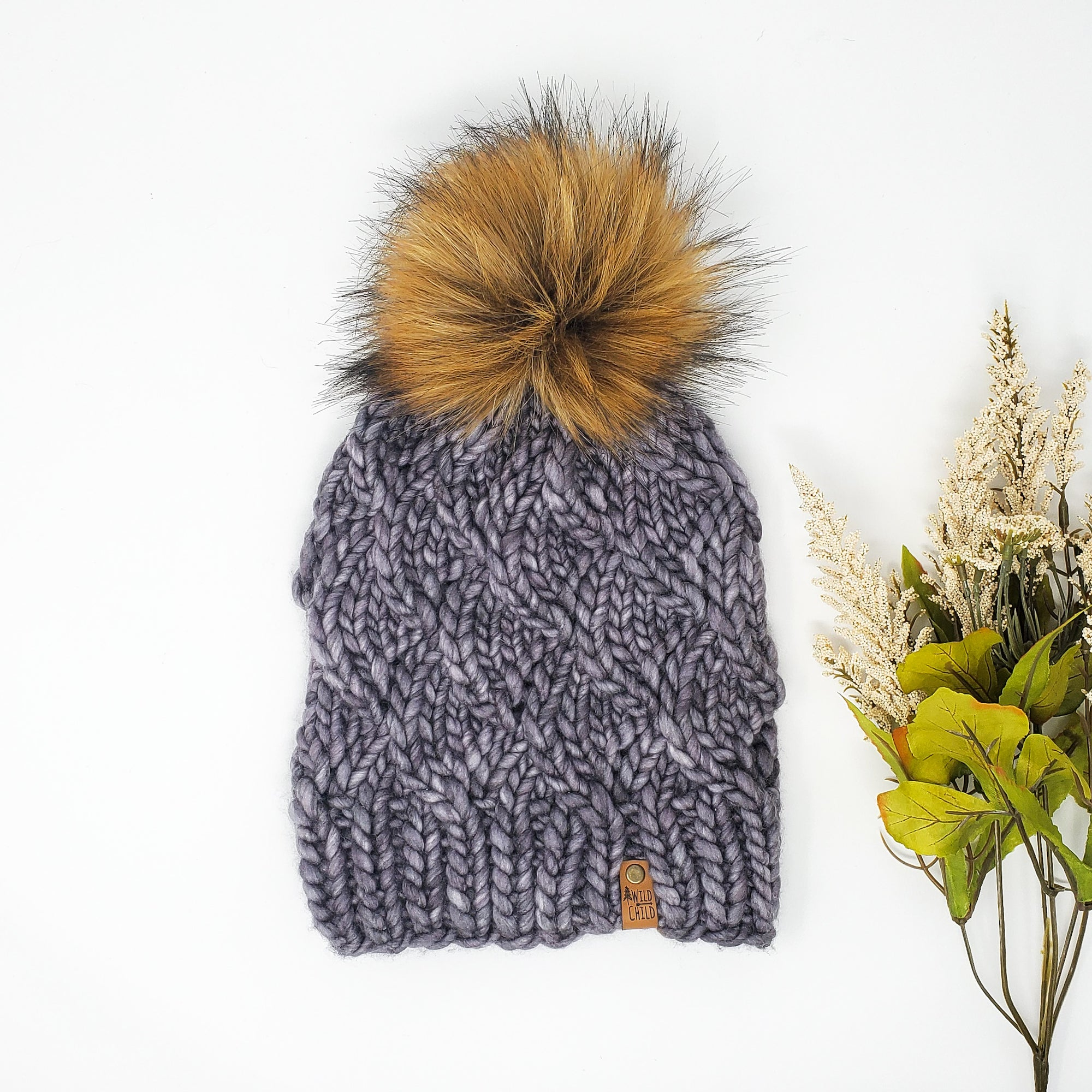 Grey Waves Knit Hat (Adult)