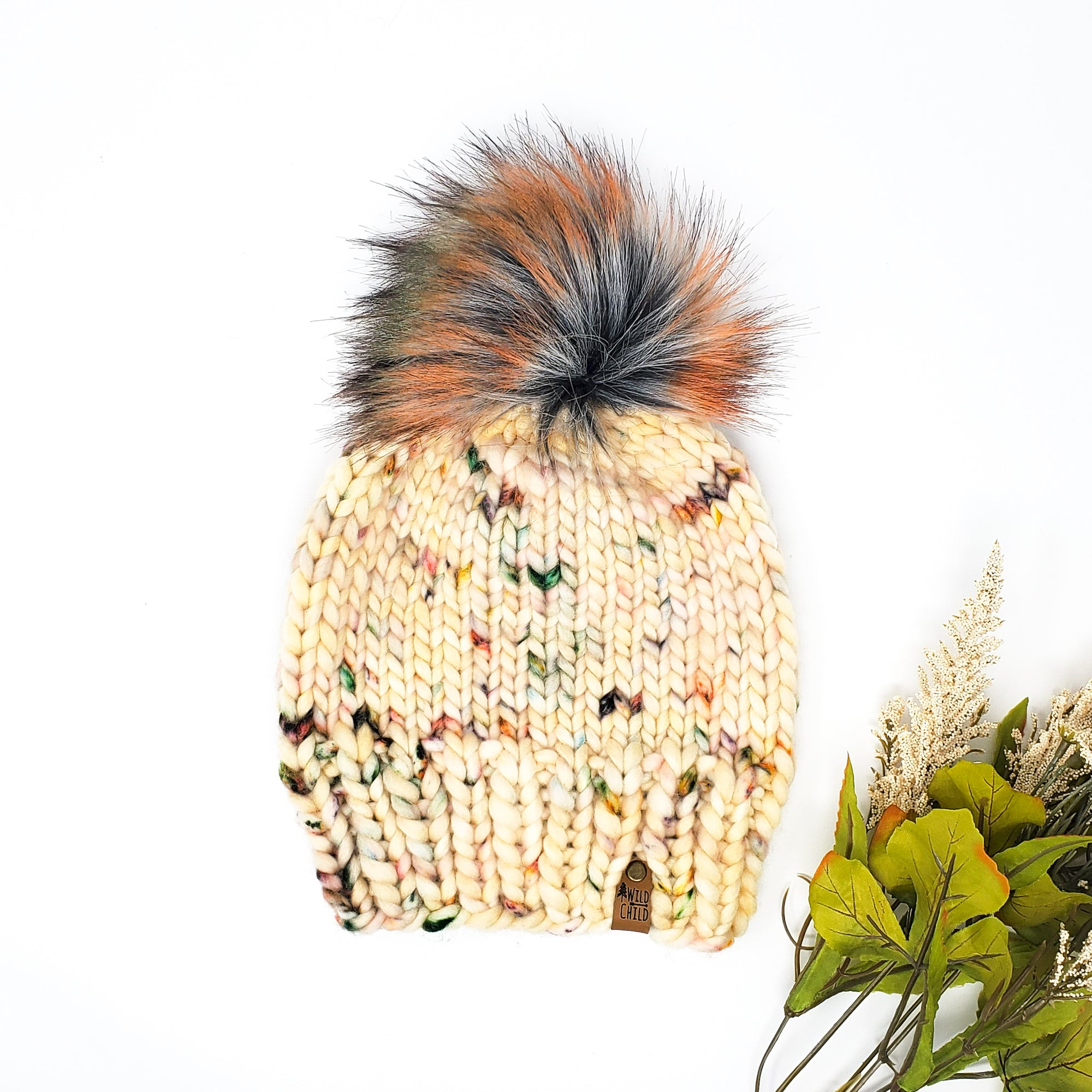 Pressed Flowers Classic Knit Hat (Adult)