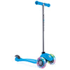 Globber 3 Wheel Kick Scooter w/ LED Light Up Wheels - Light Blue