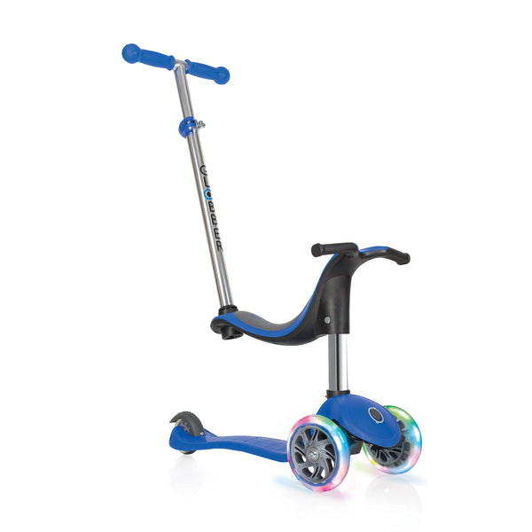 Globber Evo 3 Wheel 4-in-1 Convertible Scooter w/ LED Light Up Wheels