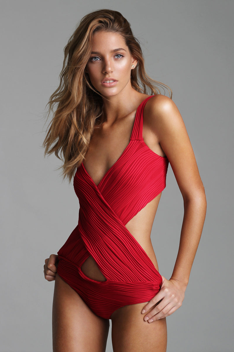 Red Cross-side Trikini