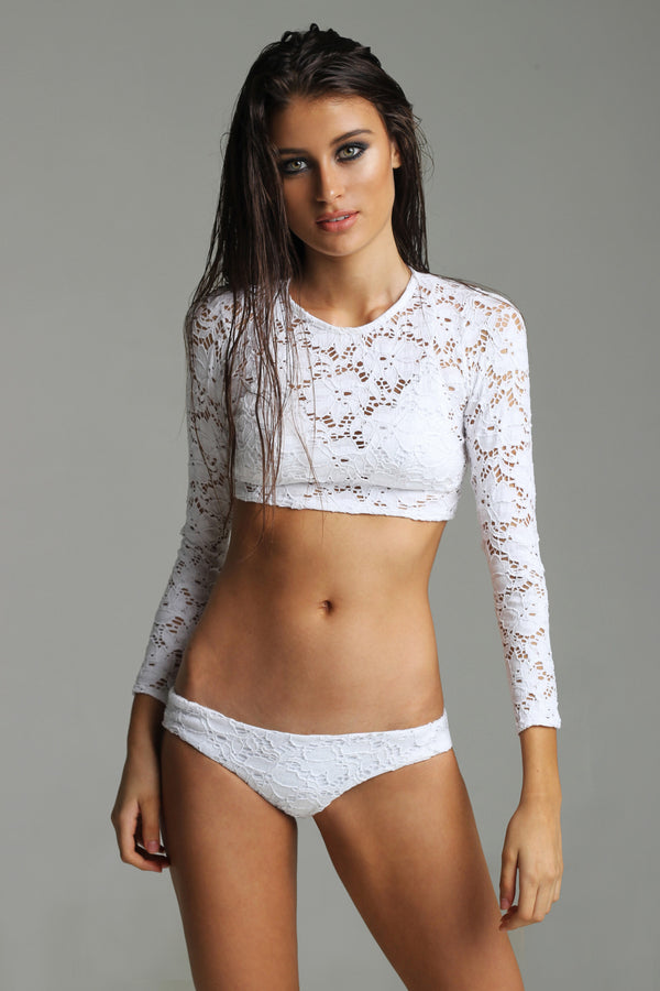 White long sleeve angel swim
