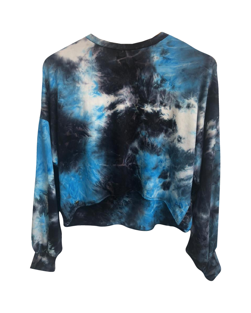 Sweater Tie Dye Black/Blue