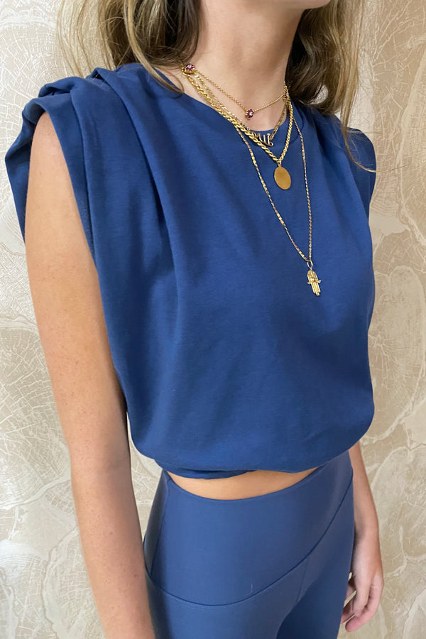 Blue KALA CROP t-shirt