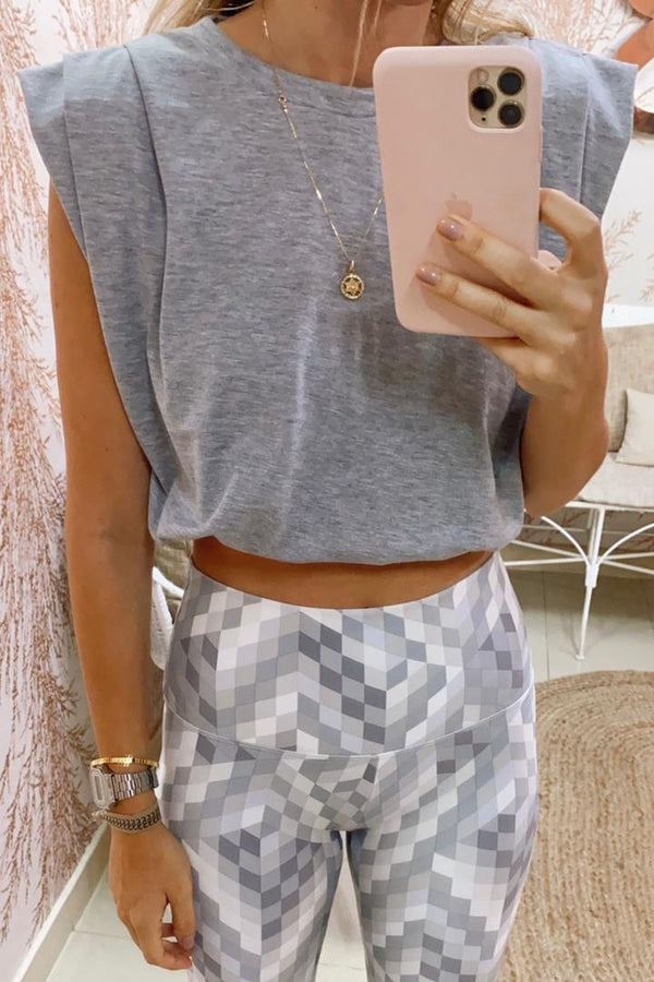 Grey KALA CROP t-shirt