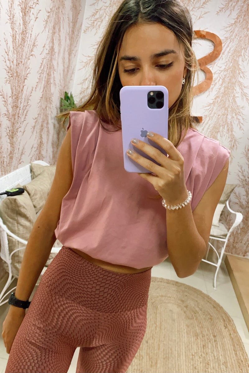 Pink KALA CROP t-shirt