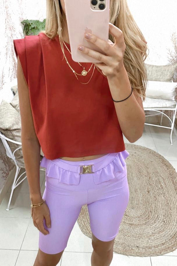 Red KALA CROP t-shirt