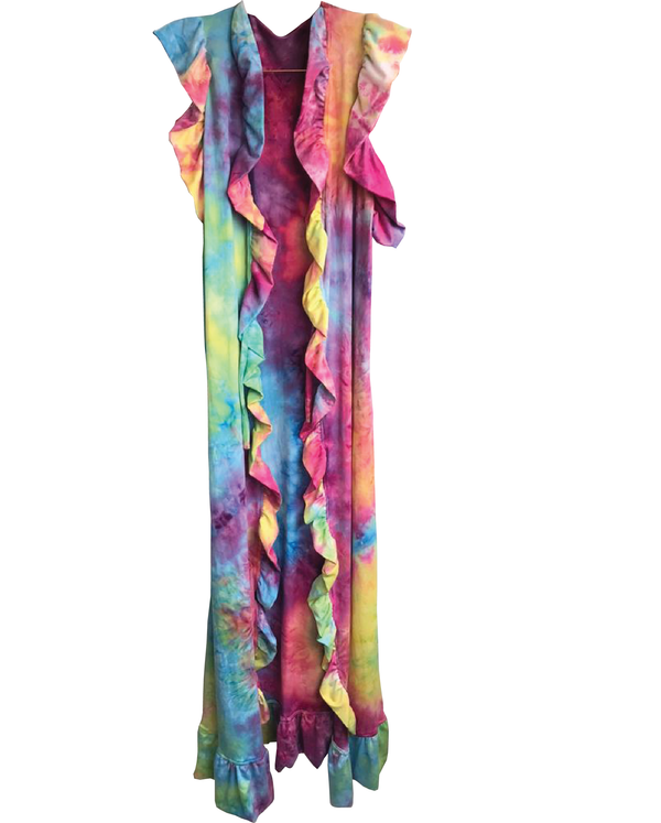 Cover Up Teress Colorful Tie Dye