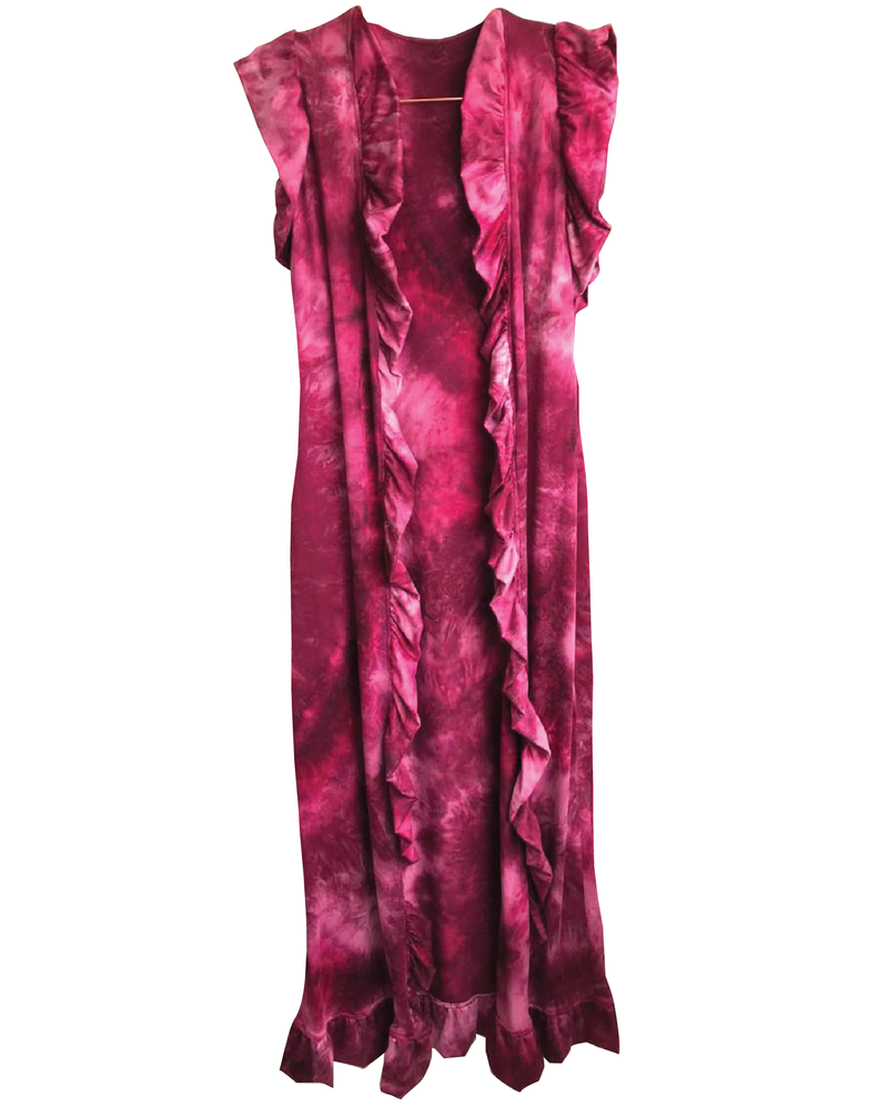 Cover Up Teress Burgundy Tie Dye