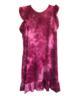 Princess Dress Burgundy Tie Dye